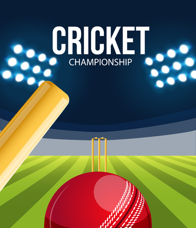 cricket stump: Illustartion of Cricket concept sport background