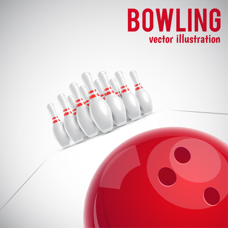 bowling strike: Illustartion of bowling realistic theme  Illustration
