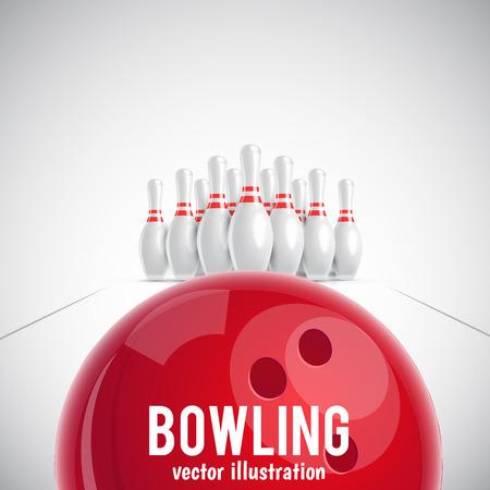 Illustartion of bowling realistic theme Illustration