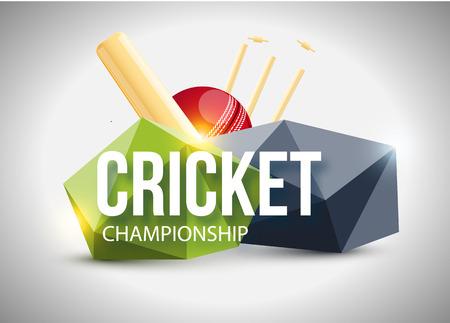 mania: Illustartion of Cricket concept sport background