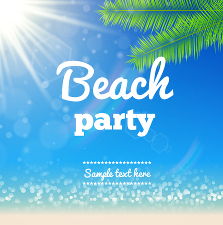 sunny beach: Illustartion of Beach sunny background- Vector Design