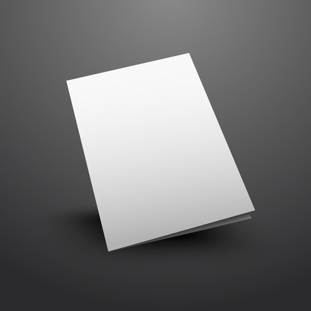 mock up: vector illustration of white mockup broshure 3d with shadow
