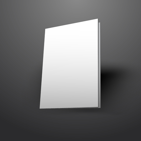 vector illustration of white mockup broshure 3d with shadow Imagens - 49729110