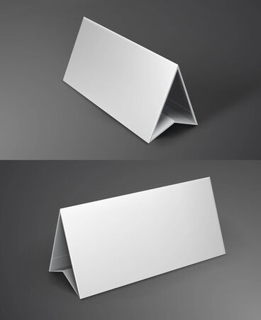 assign: vector illustration of white mockup broshure 3d with shadow