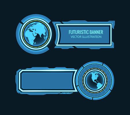 hightech: Illustartion of futuristic glowing background vector illustration Illustration