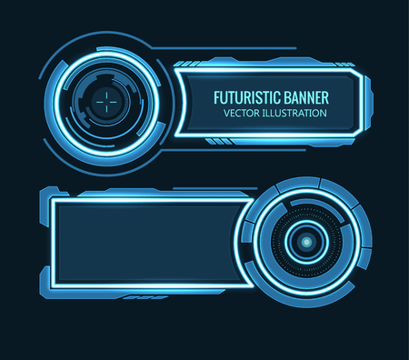 Illustartion of futuristic glowing background vector illustration Vettoriali