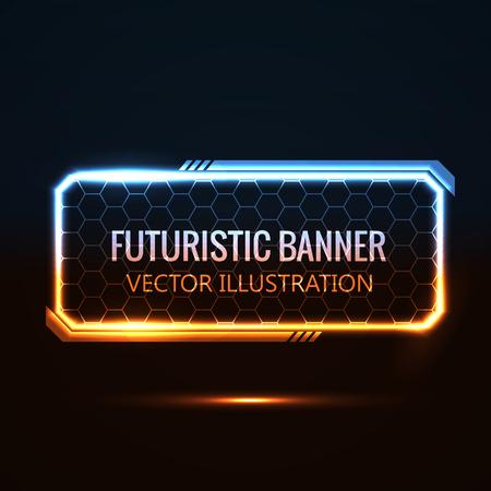 Illustartion van futuristische gloeiende achtergrond vector illustratie