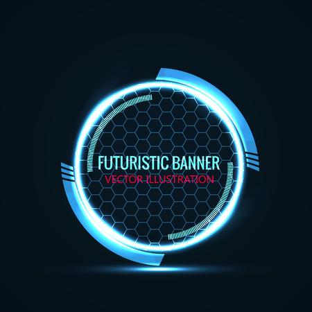 Illustartion of futuristic glowing background vector illustration 矢量图像