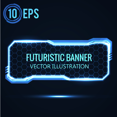 Illustartion of futuristic glowing background vector illustration Imagens - 49852609