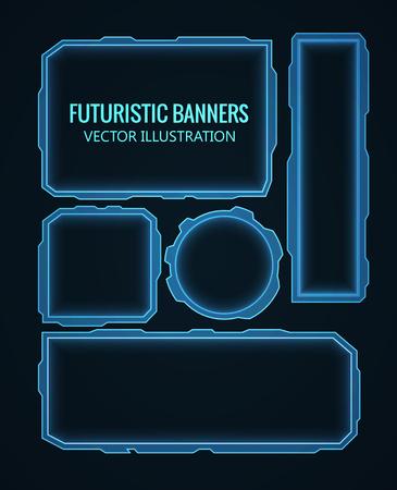raumschiff: Illustartion futuristisch leuchtenden Hintergrund Vektor-Illustration