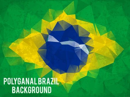 football world cup: Illustartion of triangle  brazil background concept