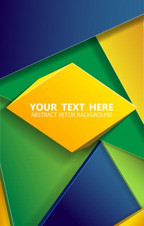 soccer: Illustartion of triangle  brazil background concept