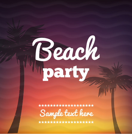 sensation: Illustartion of Beach Party Flye with place for text