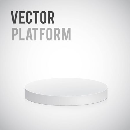 win win: Illustartion of grey podium isolated on white Illustration
