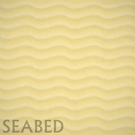 buried: Illustartion of Underwater seabed background sand waves Illustration