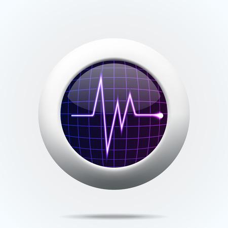 beats: illustration of sign  pulse background isolated on white