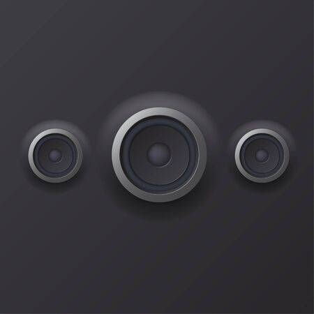 sound waves: illustration of Audio speaker with sound waves  Illustration