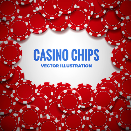 wagers: Illustartion of casino chips top view with shadows