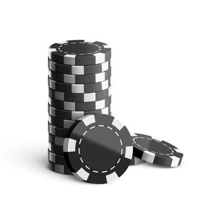 isolated illustartion: Illustartion of casino chips isolated on white realistic theme