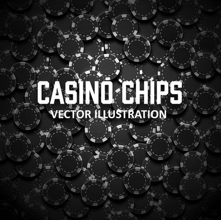 casinos: Illustartion of casino chips top view with shadows