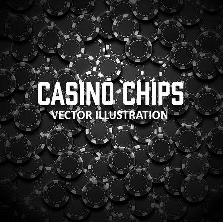 Illustartion van casino chips bovenaanzicht met schaduwen