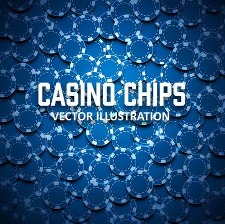 Illustartion de fichas de casino Vista superior con sombras