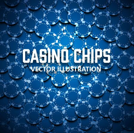 casino chips: Illustartion of casino chips top view with shadows
