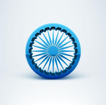 isolated illustartion: Illustartion of Indian Independence 3d sign isolated on white