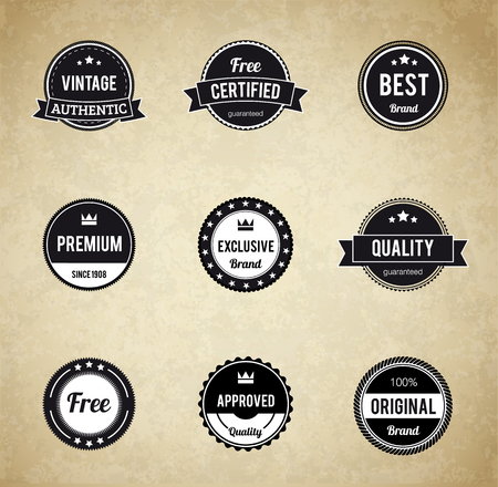 stamp: Illustartion of retro badge eps 10 Premium Quality labels