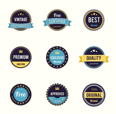 stamp collection: Illustartion of retro badge eps 10 Premium Quality labels