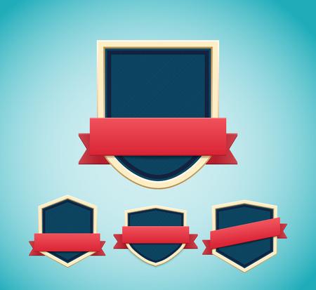 retro badge: Illustartion of retro badge eps 10 Premium Quality labels