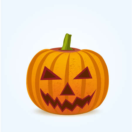 haunting: illustration of Pumpkin for Halloween isoleted on white