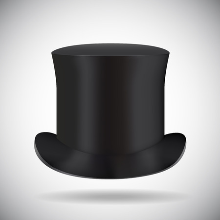 top clothing: Illustartion of Black top hat isolated on white Illustration