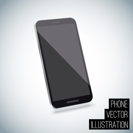 cellular telephone: Illustartion of Realistic smart phone vector eps 10