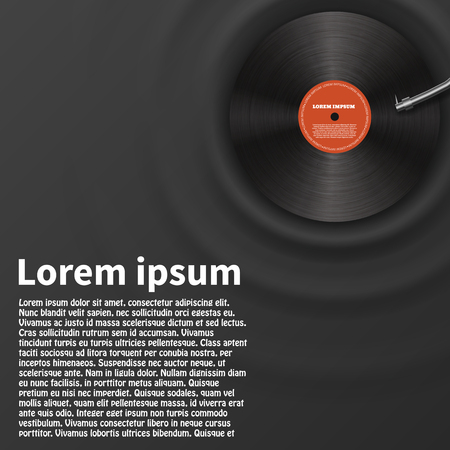 Illustartion de vinyle disque conception réaliste eps 10