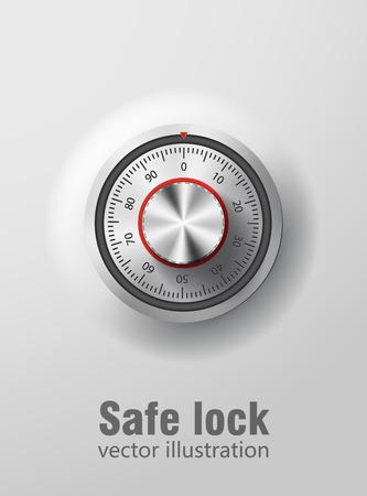 caja fuerte: ilustraci�n de bloqueo de seguridad ibject realista eps 10 Vectores