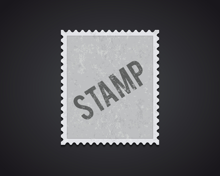 Illustartion of white stamp mockup eps 10 high quality Çizim