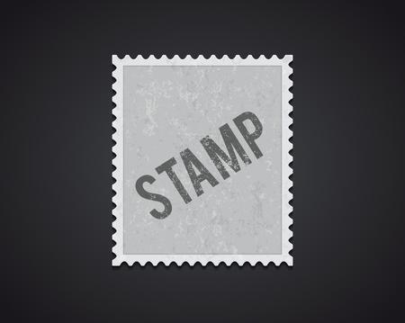 Illustartion of white stamp mockup eps 10 high quality Illustration