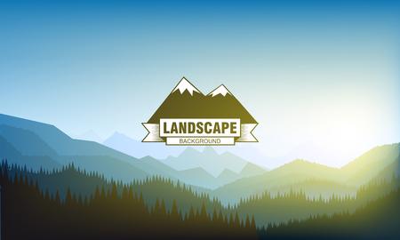 Illustartion di paesaggio di montagna di paesaggio eps 10 Archivio Fotografico - 50710778