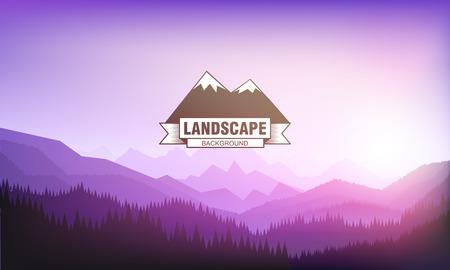 ridge: Illustartion of landscape mountain background eps 10