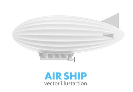 illustartion: Illustartion of  air ship isolated on white
