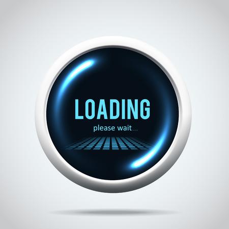 Illustartion of modern glowing  progress loading bar