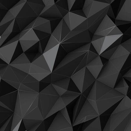 poligonos: Ilustración de fondo negro abstracto de polígono