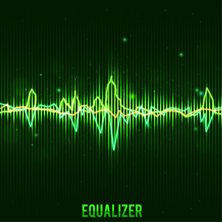 audio electronics: Illustartion of abstract green equalizer wave form eps 10 Illustration