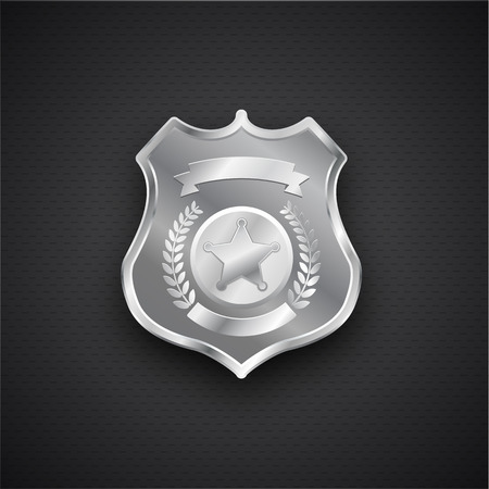 eps 10: Illustartion of  Vector metal Police Badge eps 10 Illustration