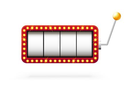 Illustartion van gokautomaat 3d geïsoleerd op wit Stock Illustratie