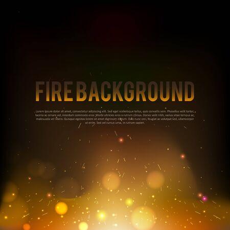 Illustartion of abstract red fire background eps 10 darken