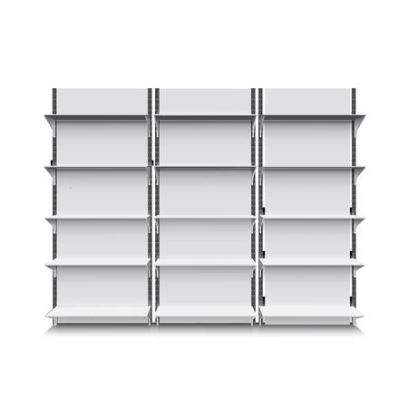 Illustration of realistic shelf isolated on white eps 10