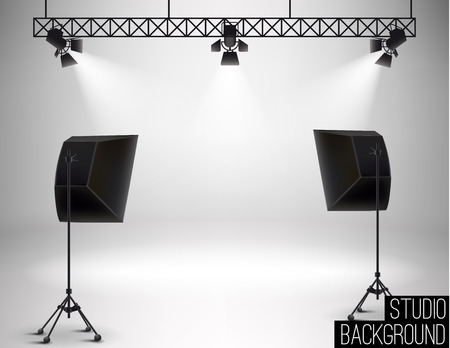 shoot: Illustartion of Studio backdrop eps 10 soft light