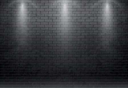 벽돌 벽 검은 배경 illustartion합니다